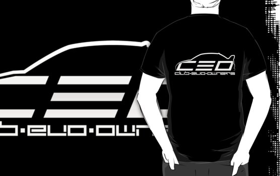 Club Evo Owners - Regular Logo (White) by jamezluv