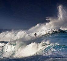 Surfer At RockPile  by Alex Preiss