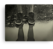 Too Big to Splash in Puddles... Canvas Print