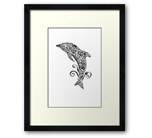 Dolphin Doodle T-shirt Framed Print