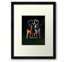 Deers In Love - 01 Framed Print