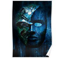 Steampunk half mask Poster