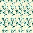 Bluish flower pattern by nadil