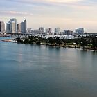 Miami from Key Biscayne  by iamwiley