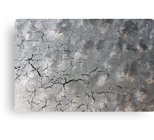 Cracks and clouds: what is this? Canvas Print