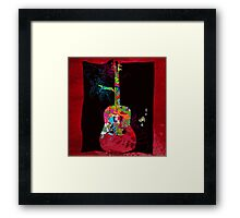 graphic guitar Framed Print