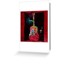 graphic guitar Greeting Card