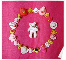 Angel Bear in Duck Blessing Circle, from above Poster