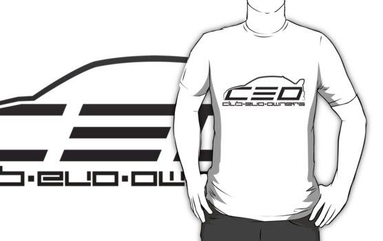 Club Evo Owners - Regular Logo (Black) by James Love