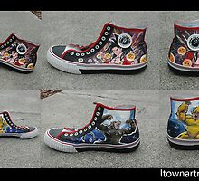 Super Saiyan 4 Custom Shoes by colorblind