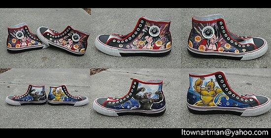 Super Saiyan 4 Custom Shoes by colorblind