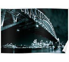 Black and White shot of Sydney's landmarks Poster