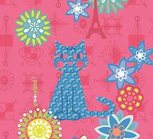 Blue Cat in Paris by contourcreative
