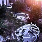 """Arts Center Maze at Sunset"" by mls0606"
