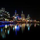 Melbourne by night by Jake Karpinski