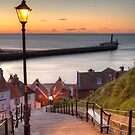 Whitby Steps - Orange Glow by MartinWilliams