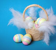 Easter eggs in a basket  by torishaa