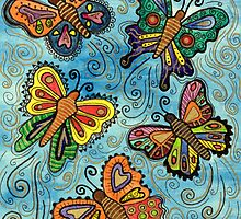 Watercolour Butterflies by Lisa Frances Judd ~ QuirkyHappyArt