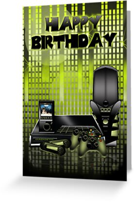 The Gadget Lovers Birthday Greeting Card by Moonlake
