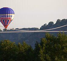 Bristol Balloon Fiesta with Suspension Bridge in background by fishface220