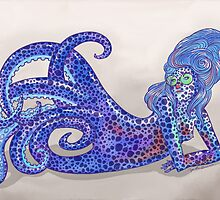 Bobtail Squid Mermaid by rosalarian