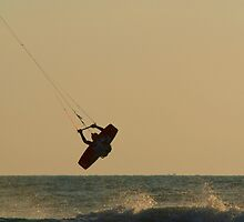 Kite Surfer Jumping Mandrem by SerenaB