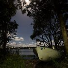 Moored by Midnight - Lake Ainsworth by Daniel Rankmore