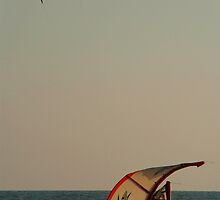 Kitesurfer Down Mandrem by SerenaB