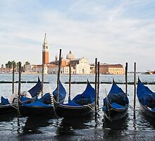 blue gondolas by Anne Scantlebury
