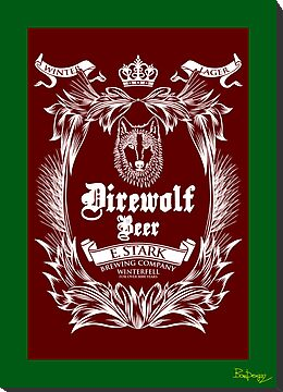 DIREWOLF BEER BREWED BY STARK IN WINTERFELL by bomdesignz