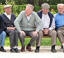 five men sitting by Anne Scantlebury