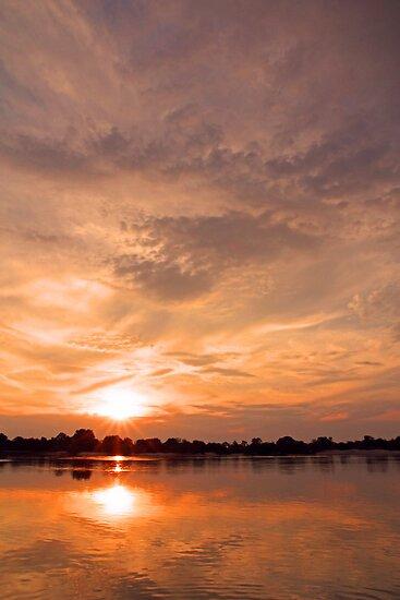 Zambezi sunset by Dan MacKenzie