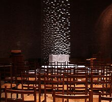 Rush chairs, MIT chapel by Jane McDougall