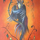 Gamaun The Prophetic Bird With Ruffled Feathers by taiche