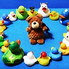 Benny Bear in Duck Blessing Circle by Sammy Nuttall