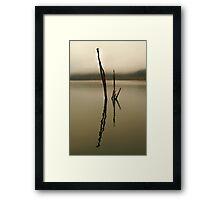 Misty Lake Eildoon Framed Print