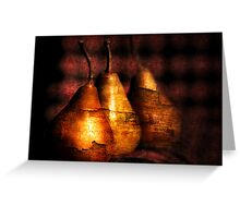 3 golden pears Greeting Card