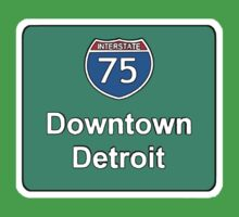 INTERSTATE 75: DOWNTOWN DETROIT by SOL  SKETCHES™