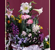 Easter Mini Flower Garden Greeting Card by MotherNature