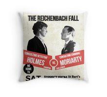 HOLMES vs MORIARTY Throw Pillow