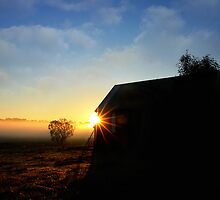 Country church in the mist ...  by Rosalie Dale
