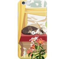 Cat and Tiger Lillies iPhone Case/Skin