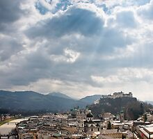 Light Rays Over Salzburg by Ming Jun Tan