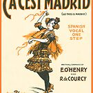 CA CEST MADRID (vintage illustration) by ART INSPIRED BY MUSIC