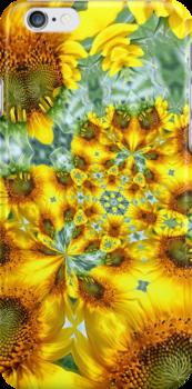Sunflower Kaleidoscope by Kelly Cavanaugh