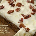Carrot cake with creamy orange frosting by patjila