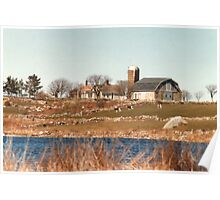 Old New England Farm Poster