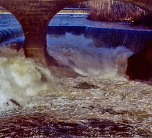 Main Street Dam on the Blackstone by Barry Doherty