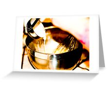 Tempering Eggs Greeting Card