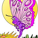 Butterfly Cartoon by Graphxpro